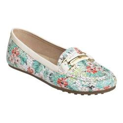 Women's Aerosoles Drive Along Loafer Floral Combo Leather