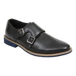 Boys' Deer Stags Harry Monkstrap Black Simulated Leather