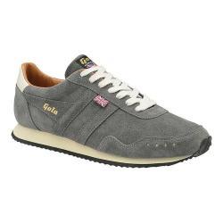 Men's Gola Track 317 Suede Trainer Grey/Grey Suede