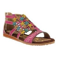 Women's L'Artiste by Spring Step Maribel Flat Sandal Fuchsia Leather