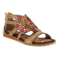 Women's L'Artiste by Spring Step Maribel Flat Sandal Taupe Leather
