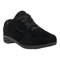 Women's Propet Washable Walker Slip-Resistant Sneaker Black Suede