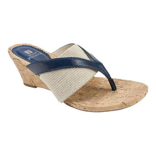 897d89cd7447 Shop Women s White Mountain Alanna Thong Sandal Navy Burnished Smooth - On  Sale - Free Shipping Today - Overstock - 20371064