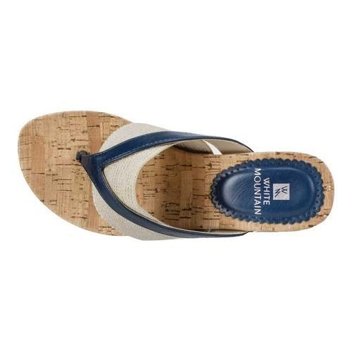 36ce04839b0d ... Thumbnail Women  x27 s White Mountain Alanna Thong Sandal Navy  Burnished Smooth