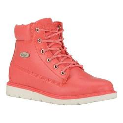 Women's Lugz Quill Hi 6in Wedge Boot Coral/White Synthetic