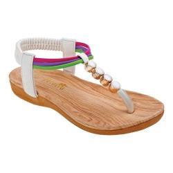 Girls' Petalia P79450S Thong Sandal White Polyurethane