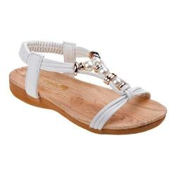 Girls' Petalia P79454S T Strap Sandal White Polyurethane (More options available)