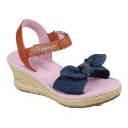 Girls' Skechers Tikis Denim Dolls Wedge Sandal Denim