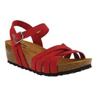 Women's Spring Step Eryn Strappy Sandal Red Leather