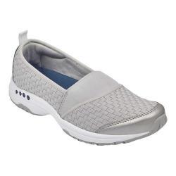 Women's Easy Spirit Twist Slip-On Sneaker Grey Fabric/Elastic (More options available)