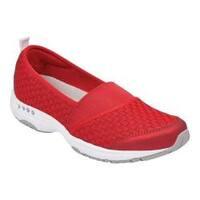 Women's Easy Spirit Twist Slip-On Sneaker Red Fabric/Elastic