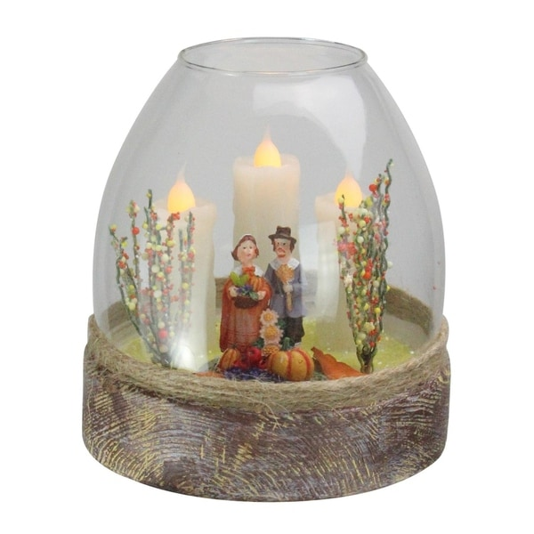 Shop 5 Quot Battery Operated Clear Glass Pilgrim Figurine 3