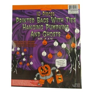 Club Pack of 960 Pumpkin and Ghost Hanging Halloween Bag Decorations