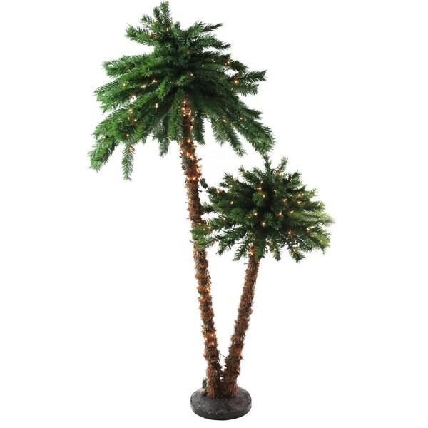 Christmas Lights Palm Trees: Shop 6' Pre-Lit Tropical Palm Tree Artificial Christmas