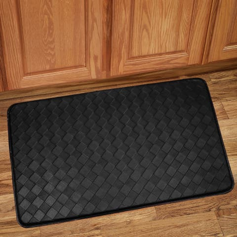 Diamond Anti Fatigue Kitchen Floor Mat (Black)