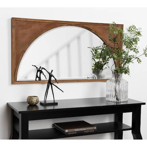 Kate and Laurel Andover Wooden Wall Panel Arch Mirror - 21.5x42