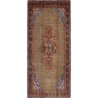 Hand Knotted Koliaei Semi Antique Wool Runner Rug - 5' 2 x 11' 6