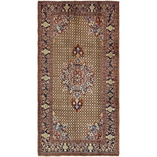 Hand Knotted Koliaei Semi Antique Wool Area Rug - 5' 1 x 9' 7
