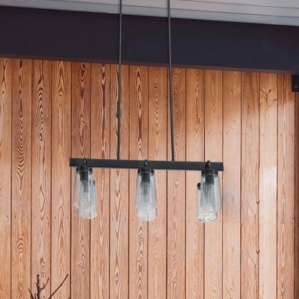 Tralvon 6-light Matte Black Outdoor/Indoor Chandelier by Havenside Home. Opens flyout.