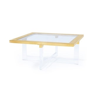 Pasargad Home  Vicenza Collection Lucite Coffeetable