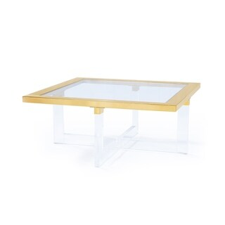 Pasargad Vicenza Collection Lucite Coffeetable