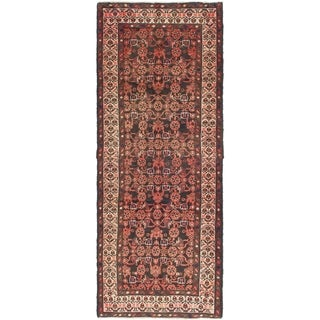 Hand Knotted Malayer Semi Antique Wool Runner Rug - 3' 3 x 8' 8