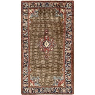 Hand Knotted Koliaei Semi Antique Wool Area Rug - 5' 2 x 9' 7