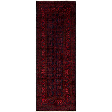 Hand Knotted Malayer Semi Antique Wool Runner Rug - 3' 5 x 10'
