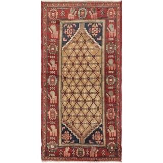 Hand Knotted Koliaei Semi Antique Wool Area Rug - 3' 5 x 6' 10