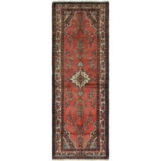 Hand Knotted Liliyan Semi Antique Wool Runner Rug - 3' 8 x 9' 10
