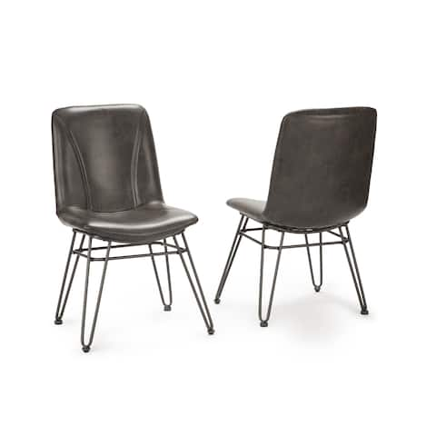 Donovan Faux Leather Dining Chair - Set of 2 by Greyson Living