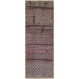 Hand Knotted Malayer Semi Antique Wool Runner Rug - 2' 10 x 8' 4