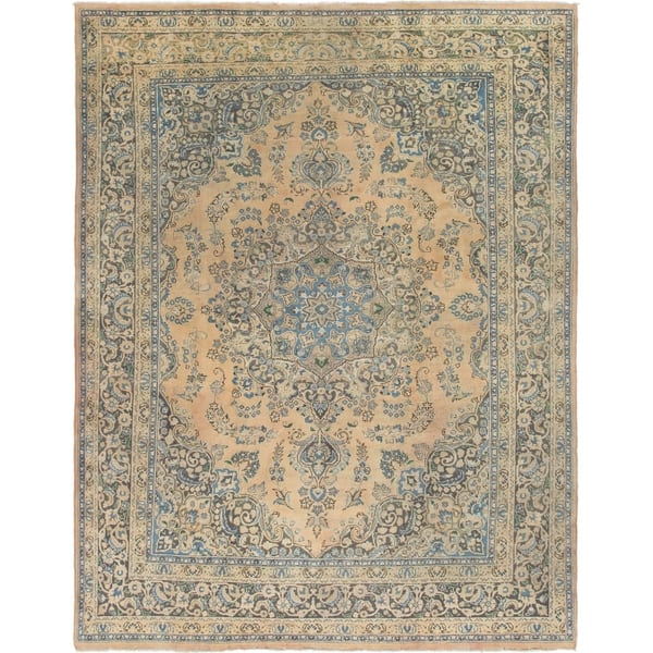 Hand Knotted Mashad Semi Antique