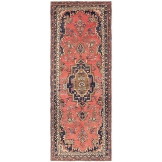 Hand Knotted Liliyan Semi Antique Wool Runner Rug - 3' 7 x 9' 10