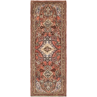 Hand Knotted Liliyan Semi Antique Wool Runner Rug - 3' 2 x 9' 6