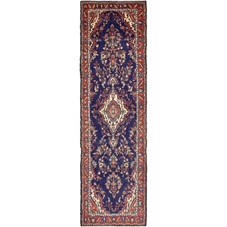 Hand Knotted Liliyan Wool Runner Rug - 3' 5 x 12'