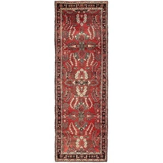 Hand Knotted Liliyan Semi Antique Wool Runner Rug - 3' 6 x 11'