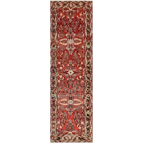 Hand Knotted Liliyan Semi Antique Wool Runner Rug - 4' x 13' 10