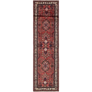 Hand Knotted Liliyan Wool Runner Rug - 3' 4 x 12' 8