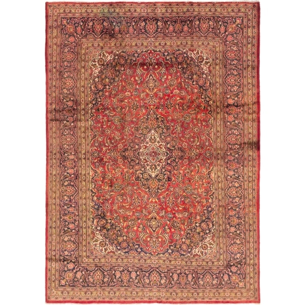 8 X 11 Area Rugs On Sale: Shop Hand Knotted Mashad Semi Antique Wool Area Rug