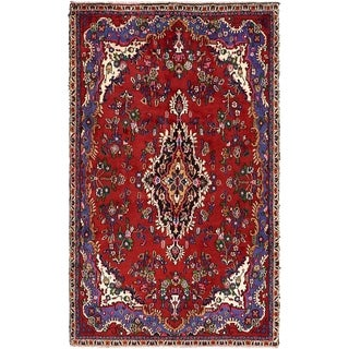 Hand Knotted Liliyan Semi Antique Wool Area Rug - 5' 7 x 9'