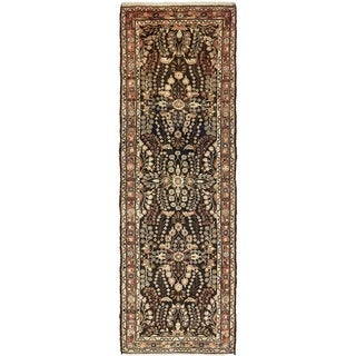 Hand Knotted Liliyan Semi Antique Wool Runner Rug - 3' 5 x 10' 3