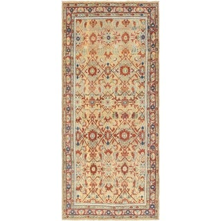 Hand Knotted Malayer Antique Wool Runner Rug - 5' 4 x 12' 2