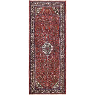 Hand Knotted Liliyan Semi Antique Wool Runner Rug - 4' x 10'
