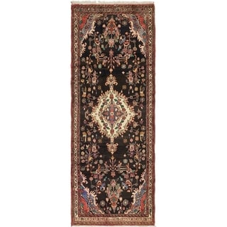 Hand Knotted Liliyan Semi Antique Wool Runner Rug - 3' 8 x 9' 8