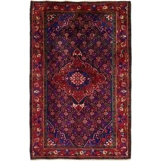 Mahal Wool Semi-antique Handmade Area Rug - 4'3 x 6'7