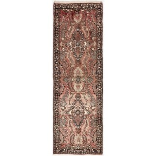 Hand Knotted Liliyan Wool Runner Rug - 3' 4 x 10' 6