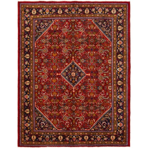 Hand Knotted Mahal Semi Antique Wool Area Rug - 9' 9 x 12' 10