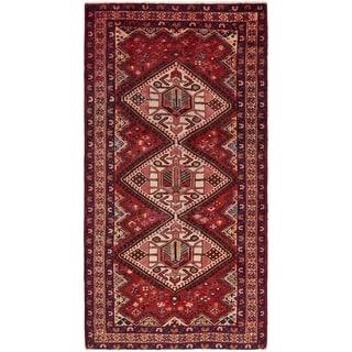 Hand Knotted Mahal Antique Wool Runner Rug - 5' x 9' 10