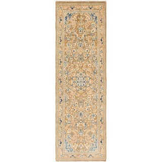 Hand Knotted Mahal Semi Antique Wool Runner Rug - 3' 3 x 11'